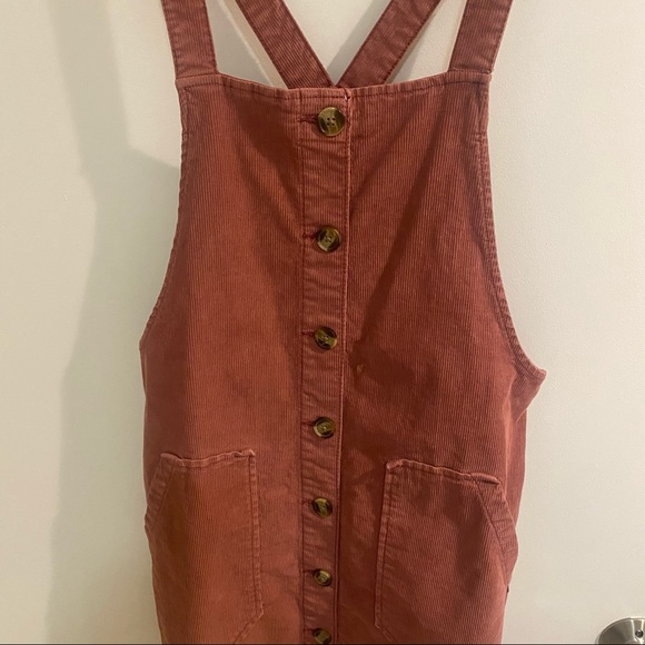 Corduroy Overall Button up Dress